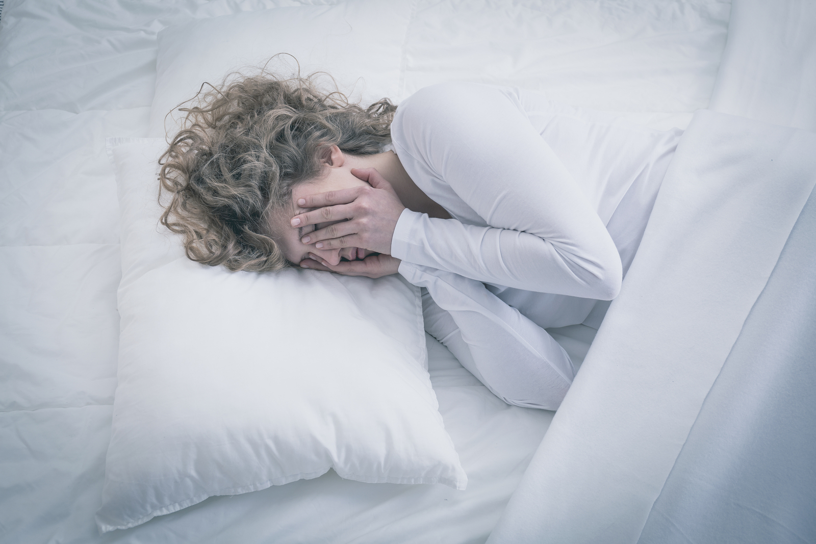 Depressed Woman not Sleeping All Day